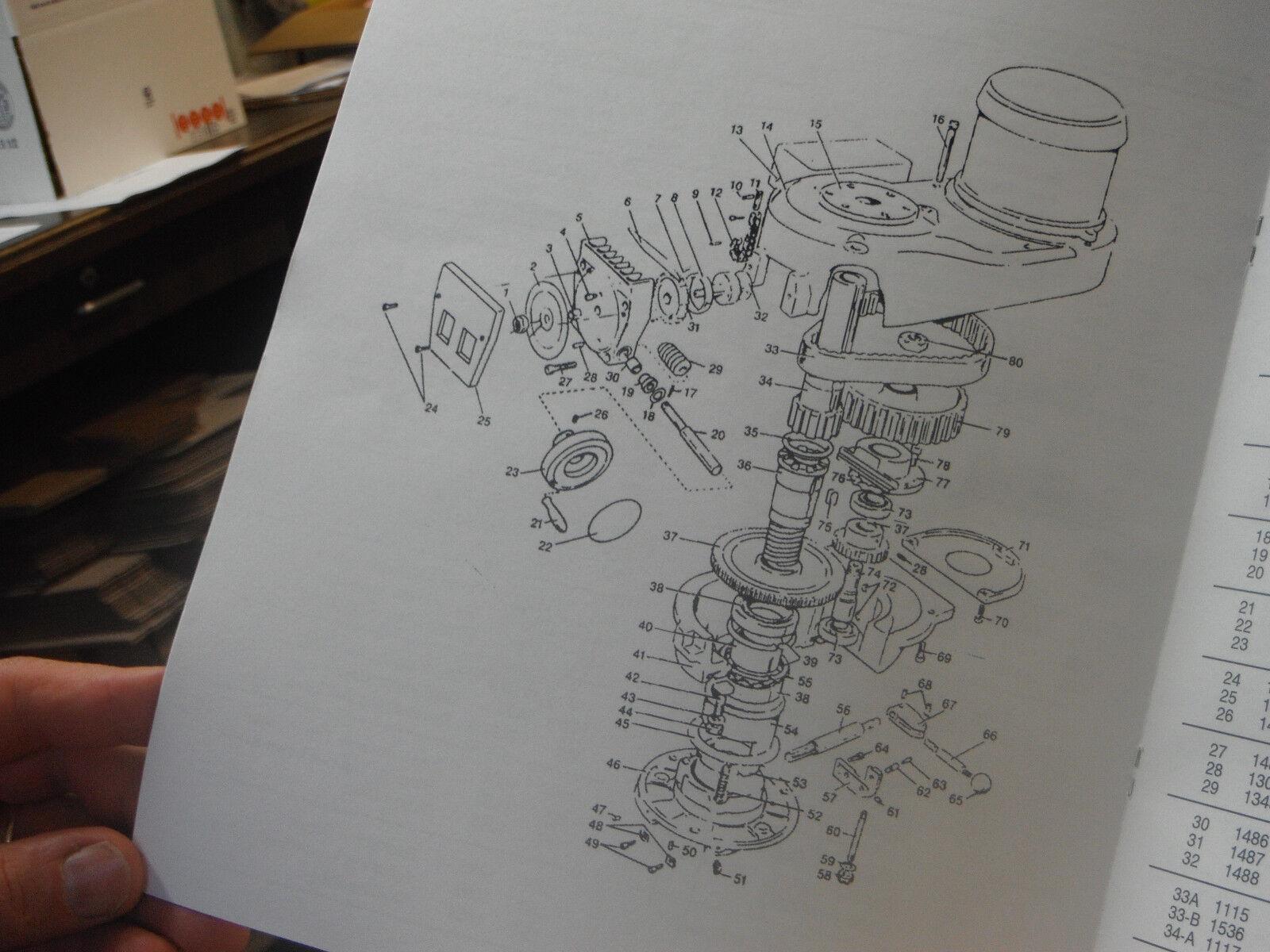 bridgeport milling machine replacement parts