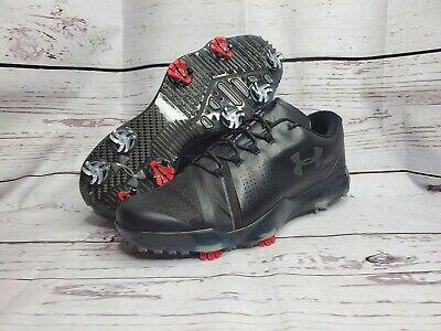 Under Armour Mens Spieth III Golf Shoe, Black (001)/Black, 11