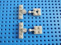 Lego 4 x Kupplung Deichsel 63082  neu hellgrau  Platte 2x2