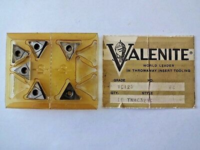 (Lot of 6) Valenite TNMC 32-NG VC125 Carbide Inserts