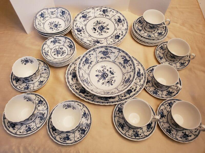 "johnson brothers china ""Indies"" blue&white England"