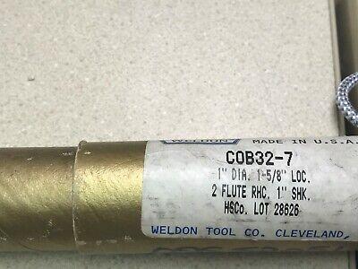 Weldon End Mill 1 2 Flute Single End Cobalt Cob32-7 - New