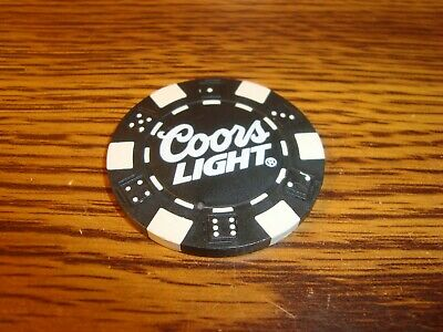 COORS LIGHT Beer Logo Dice design Poker Chip Golf Ball Marker-Card Guard  Black - Golf Ball Lights