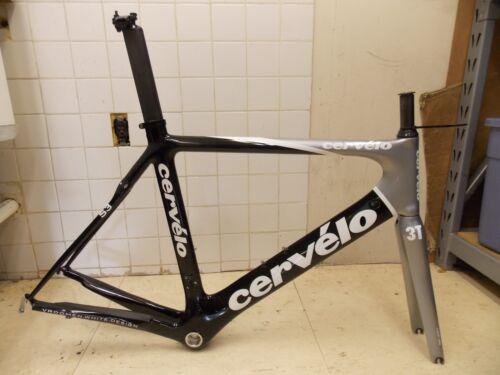 58cm Cervelo S3 Carbon Fiber Road Frame & 3T Funda Team Full Carbon Fork