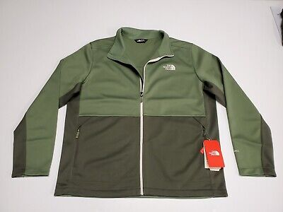 The North Face Men's XL Apex Canyonwall Softshell Jacket Clover,Taupe Green NWT