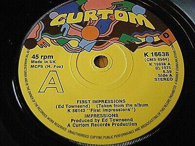"IMPRESSIONS - FIRST IMPRESSIONS  7"" VINYL"