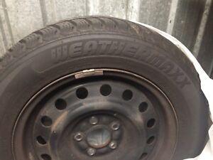 4 winter tires on rims 5x100 bolt