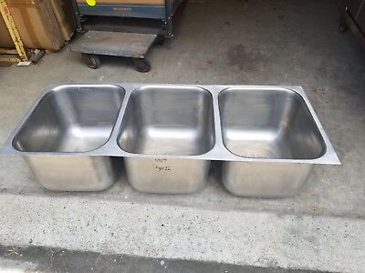 Eagle 3 Compartment Commercial Stainless Steel Drop In Sink 53.7 X 21.8