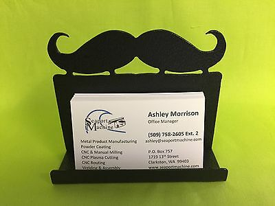 Metal Mustache Desktop Business Card Holder