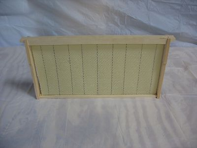 10 Assembled Bee Hive Frame - Crimped Wired Wax Foundation Deep - Brood Box
