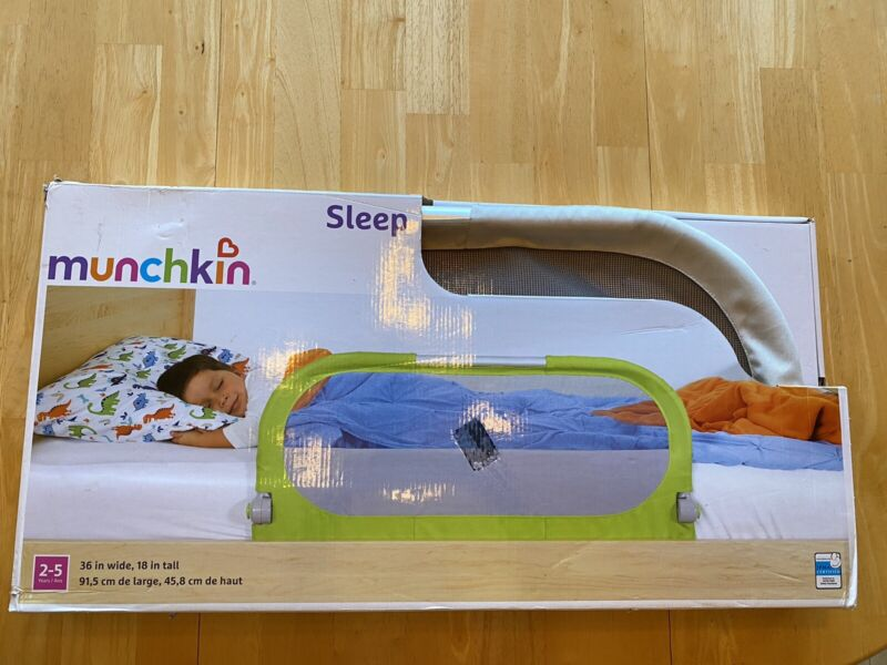 Bed Rails Munchkin Sleep Toddler Bed Rail, Fits Twin, Full and Queen Grey Safe