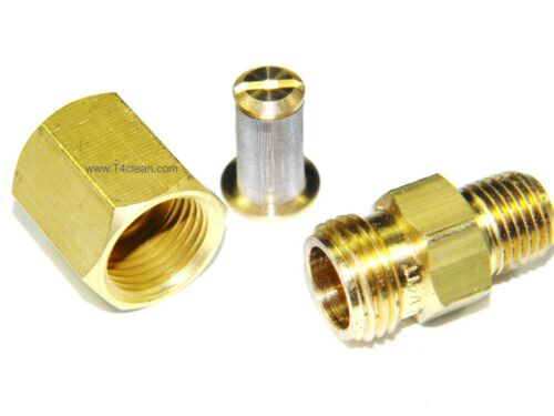 """Carpet Cleaning - Brass 1/4"""" In-line Filter for Wands, Hoses"""