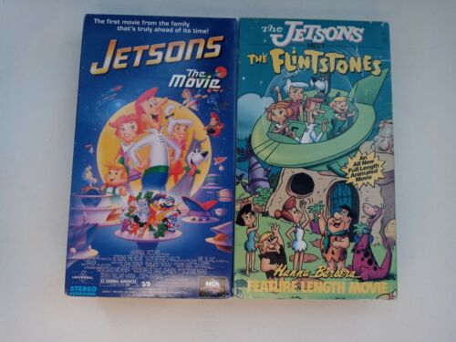 Jetsons The Movie The Jetsons Meet The Flintstone VHS Lot Of 2 - $11.95