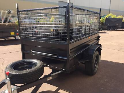 7X4 HI SIDE 600MM CAGE HEAVY DUTY 12 MONTHS PRIV REGO $1350