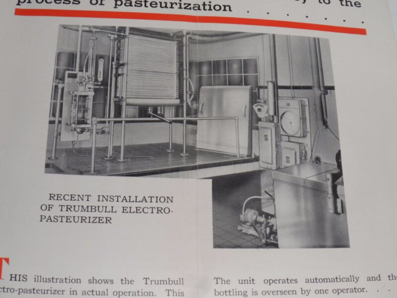 VINTAGE 1930s ELECTRO-PASTEURIZER/ELECTRO-PURE DAIRY ADVERTISING BROCHURE! MILK!