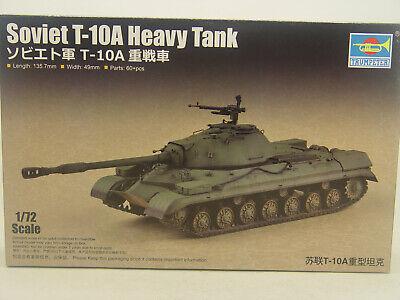 Russischer Panzer T-10 A - Trumpeter Bausatz 1:72 - 07153 #E