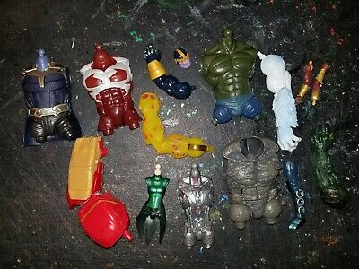 MARVEL LEGENDS BUILD A FIGURE PART BAF LOT OF 13 HULKBUSTER WENDIGO THANOS RHINO
