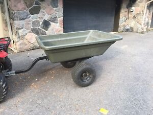 Awesome yard trailer by rubbermaid