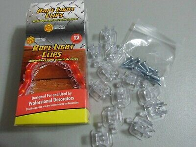 Adams 12 Pack Christmas Rope Light Clips with screws/ New ()