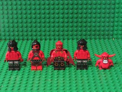 Lot 5 Lego Nexo Knights Minifigures Beast Master General Magma Scurrier NK1