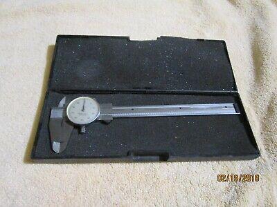 Brown Sharpe No. 579-1 - 6 Shock Proof Swiss Made Dial Caliper W Case