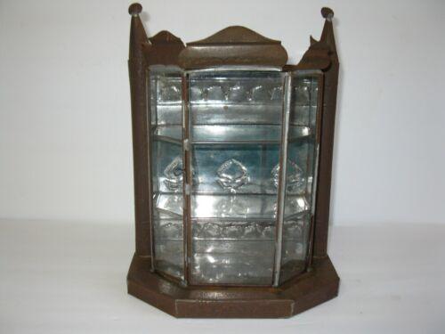 "Vintage Mexican tin nicho box shrine Cabinet 11""  tall 8 1/4"" Wide"