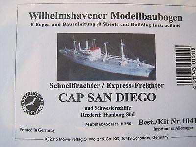 Cap San Diego Schiff Wilhelmshavener Modellbaubogen Bastelbogen Kartonmodell