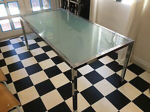 Glass/metal dining table Lilyfield Leichhardt Area Preview