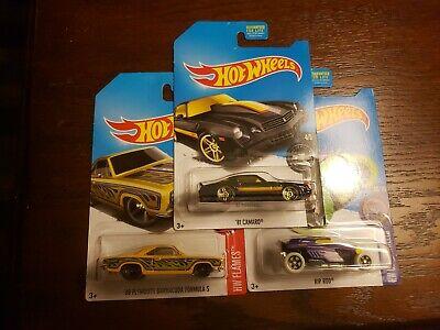 Hot Wheels Toys R Us Exclusive '81 Camaro/ PR5 Rim's &Rip Rod & 68 Plymouth cuda