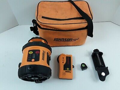 Johnson Acculine Pro 40-6515 Self-leveling Rotary Laser Level 40-6710 Detector