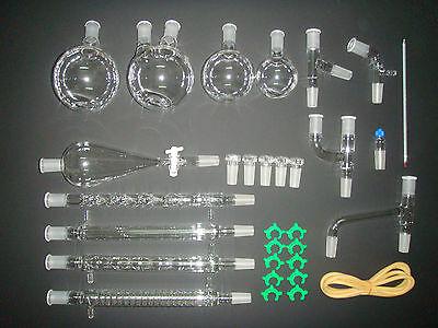 New Advanced Organic Chemistry Lab Glassware Kit 2440chemistry Glass Kit