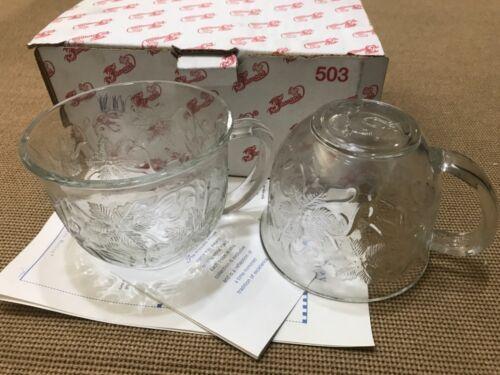Set of 2 Vintage Princess House Crystal Coffee Tea Mugs Cups Made In USA 503