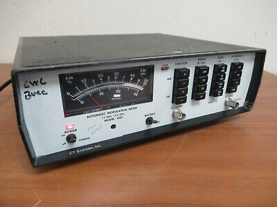 Ct Systems Model 4101 Automatic Modulation Meter 1.5mhz - 2.0ghz 7143h