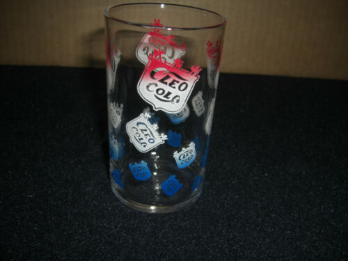 CLEO  COLA 4 Inch GLASS  Vintage Original
