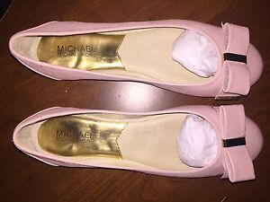 Michael Kors bow ballet flats in light pink