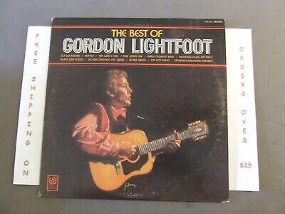 THE BEST OF GORDON LIGHTFOOT, GREATEST HITS LP UAS