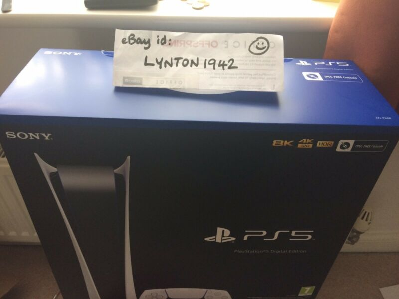 Sony+PlayStation+5+PS5+Digital+console+BNIB+Cash+On+collection