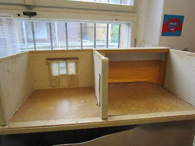Puppenhaus Puppenstube  Haus 2 Zimmer Räume Puppenmutti  um 1950