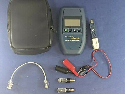 Fluke Microscanner Pro Very Good Condition Case Accessories