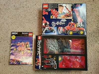 VINTAGE LEGO Technic #8854 Power Crane - Complete w/ Instructions & Original Box