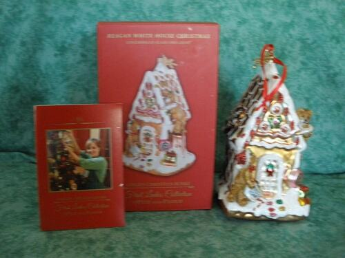 FIRST LADIES COLL~REAGAN WHITE HOUSE CHRISTMAS~FITZ & FLOYD~GINGERBREAD HOUSE~