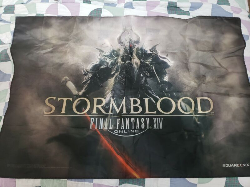 Final Fantasy XIV Stormblood Exclusive Fabric Banner Poster