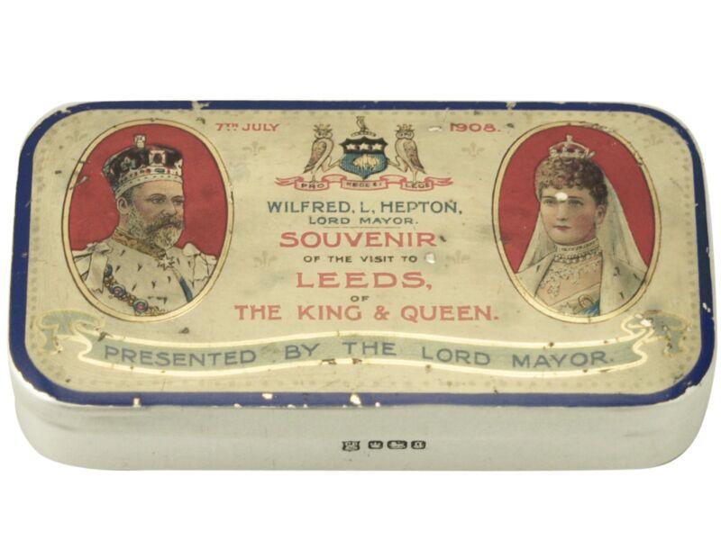 Antique Edwardian Sterling Silver Commemorative Box