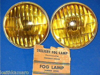 NOS SEE LITE FOG LAMP BULBS ELECTRIC AUTO LIGHT CO. 6 VOLT 4012-A SEE LIGHT FORD
