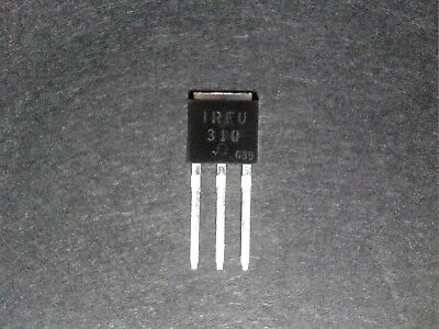 5 Pcs Ir Irfu310 400v 1.7a N-channel Fast Switiching Power Mosfet Transistor