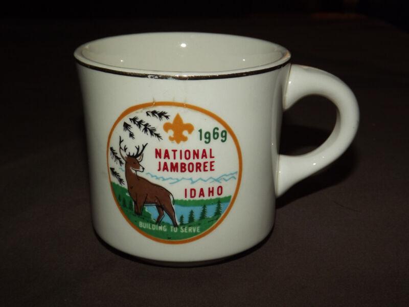 VINTAGE BSA BOY SCOUTS COFFEE MUG  1969 NATIONAL JAMBOREE IDAHO