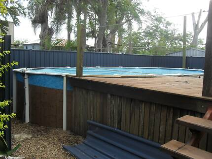 Pool ladders for above ground pools in mackay region qld for Above ground pool decks brisbane