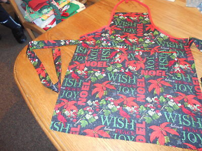 Women's Adult Hand-Crafted Apron for  Kitchen/Art Work/Gardening~Christmas NOEL