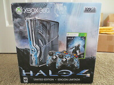 NEW Microsoft Xbox 360 S Halo 4 Limited Edition 320gb Blue Console Slim System
