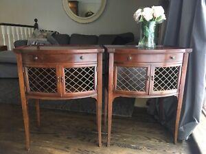 Antique mid century nightstands